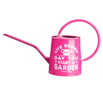 Gardening Quote Decorative Watering Can - Pink
