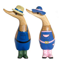 Gardening Ducks - Mr & Mrs