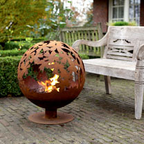 Leaves Fire Globe