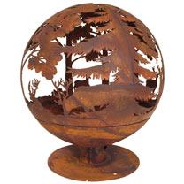 Woodland Fire Globe