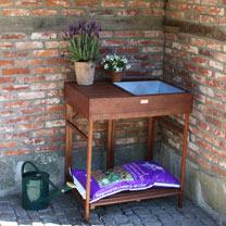 Image of Hardwood Potting Bench
