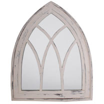 White Wash Gothic Mirror