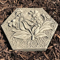 Flower and Bee Stepping Stone Insect Drinker