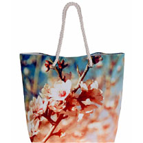 Blossom Beach Bag - White Meadow