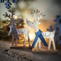 Reindeer Decoration with Blue Scarf