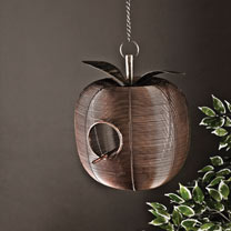 Metal Apple Shaped Bird House