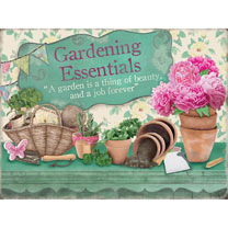 Gardening Essentials Metal Sign