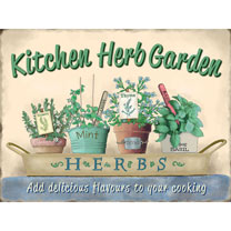 Kitchen Herb Garden Metal Sign