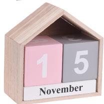 Block Calendar - Pink/Grey