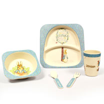 Personalised Bamboo Breakfast Set
