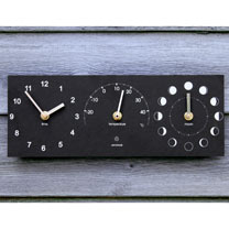 Moon, Thermometer and Time Clock