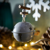 Metal Bell Decorations - Set of Three