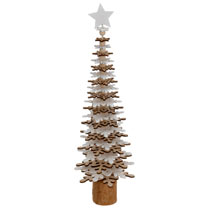 Wooden Tree - Snowflakes