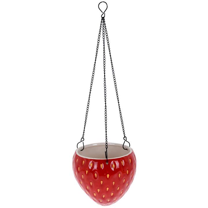 Large Strawberry Design Flower Pot