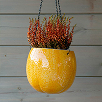 Orange Design Flower Pot