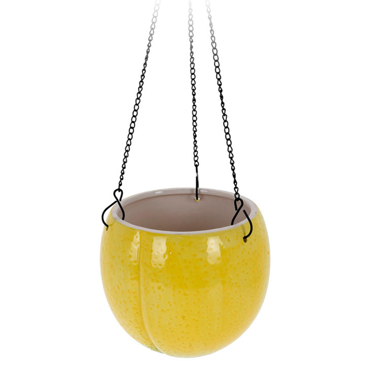 Large Lemon Design Flower Pot
