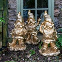 Gold Gnomes - Set of 3