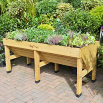 VegTrug 1.8m - Natural with Frame & 3 Covers