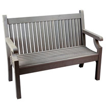 Image of 2 Seater Zero Maintenance Bench - Grey