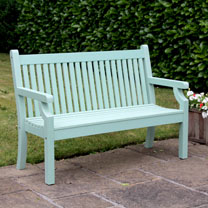 2 Seater Zero Maintenance Bench - Duck Egg Green
