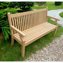 Image of 3 Seater Zero Maintenance Bench - Teak