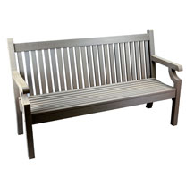 3 Seater Zero Maintenance Bench - Grey
