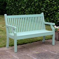 Image of 3 Seater Zero Maintenance Bench - Duck Egg Green
