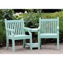 Love Seat (Zero Maintenance) - Duck Egg Green