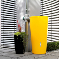 Rain Bowl Water Tank - Melon 210 Litre