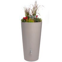 Rain Bowl Flower Water Tank - Taupe 150 Litre