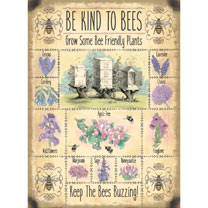 Image of Bee Kind Metal Sign