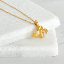 Image of Gold Vermeil Bee Pendant