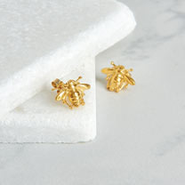Image of Gold Vermeil Bee Stud Earrings