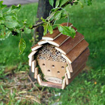Image of Wooden Insect & Bee Hotel