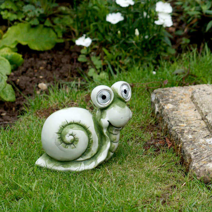 Snail with Solar Lights