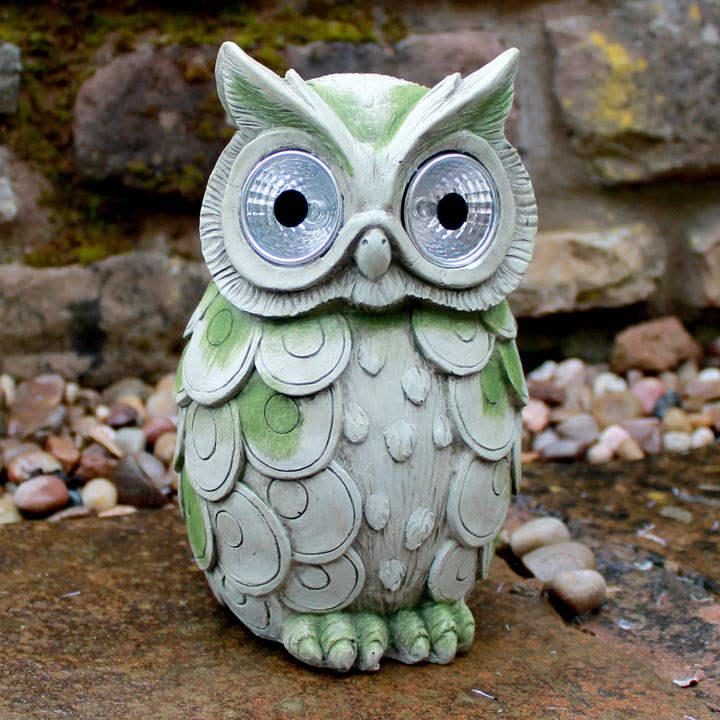 Owl with Solar Lights