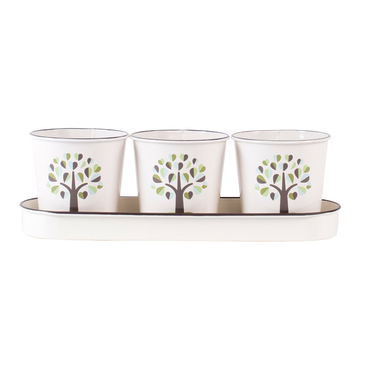 Botanical Herb Pots