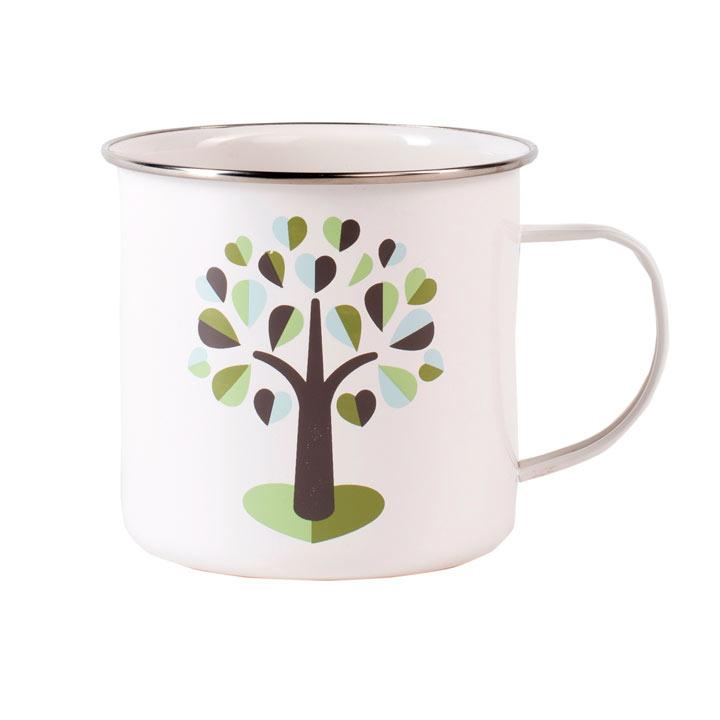 Botanical Enamel Mug