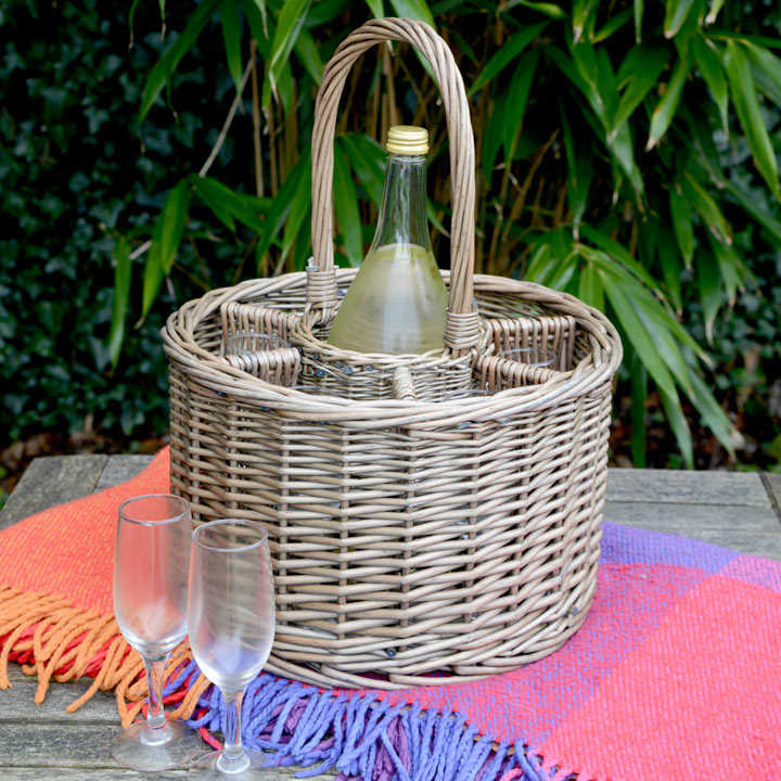 Bottle Holder and Wine Glass Basket