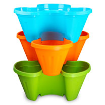 Garden Stacker Plant Pots - Set of Three