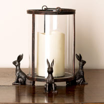 Set of Three 'Hare' Pot Feet