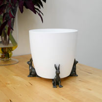Set of Three Verdi Gris 'Hare' Pot Feet