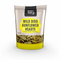 900g Sunflower Heart Seed Bag and Deluxe Sunflower Seed Feeder Combo