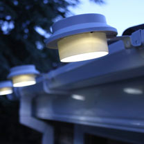 White Gutter Solar Light