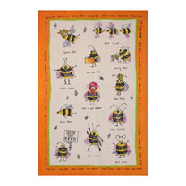 Image of Funny Bees Tea Towel