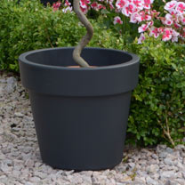 Top Planter Living Grey 23cm (Pair)