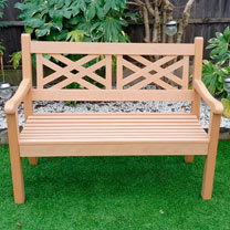 Salcombe 2 Seater Zero Maintenance Bench - Teak