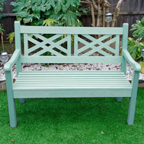 2 x Salcombe 2 Seater Zero Maintenance Bench - Duck Egg Green