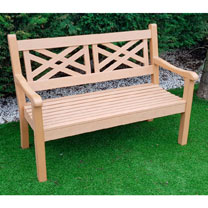 Salcombe 3 Seater Zero Maintenance Bench - Teak