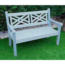 Salcombe 3 Seater Zero Maintenance Bench - Blue